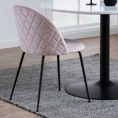 Set de 2 chaises Isa - rose clair/noir