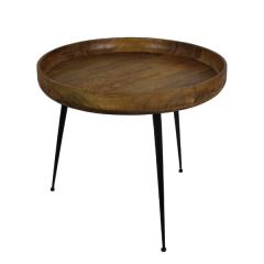 Table d'appoint Ventura ø60 cm - bois de manguier/fer