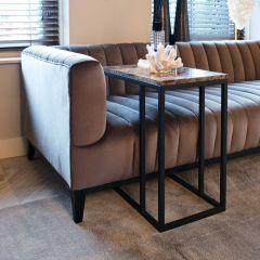 Table d'appoint Orry 55x35cm - brun/noir