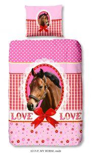 Housse de couette Horse 140x220 - rose