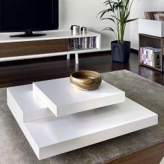 Table basse Slate 90x90 - blanc
