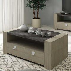 Table basse Iris - gris béton