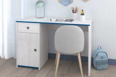 Bureau Smiley 121cm - blanc/rose ou bleu