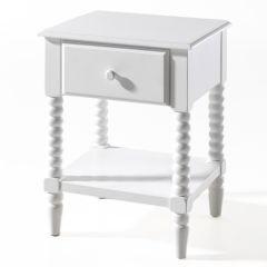 Table de chevet Alana - blanc