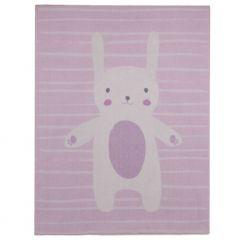 Tapis enfant Bunny - rose