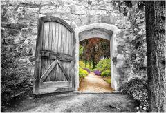 Toile Porte 78x118cm - noir et blanc