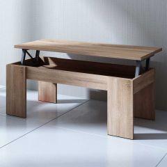 Table basse Ramos avec plateau relevable - chêne