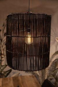 Guirlande lumineuse - ø50 cm - rotin - noir lavis