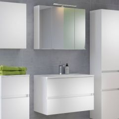 Set meuble lavabo Brama 80cm - blanc