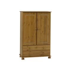 Garde-robe Ramund bas 2 portes & 2 tiroirs - brun