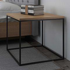 Table d'appoint Gleam 50x50 - chêne/acier