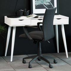 Console/bureau Jupiter 110 cm 3 tiroirs - blanc