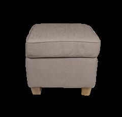 Hocker pour fauteuil Anton - pieds mocassin / vintage - lin