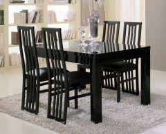 Table à manger Roma 160 cm - noir