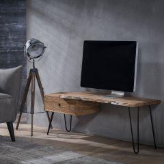 Meuble tv Remi 120cm industriel - bois d'acacia
