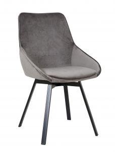 Lot de 2 chaises Mathias - gris