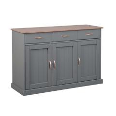 Bahut Cerci 131cm à 3 portes & 3 tiroirs - gris