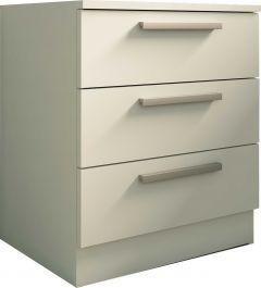 Table de chevet Ramos 3 tiroirs - blanc