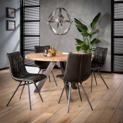 Table à manger Felix Ø135cm - acacia