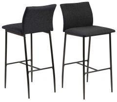 Lot de 2 chaises de bar Demir - gris/noir