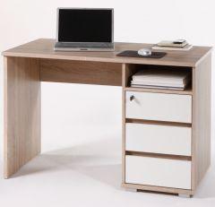 Bureau Primos 110cm avec 3 tiroirs - chêne