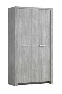 Armoire Heaven 112cm avec 2 portes - gris