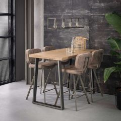 Table de bar Lilly 135x70 - manguier clair