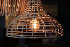 Guirlande lumineuse - ø50 cm - rotin