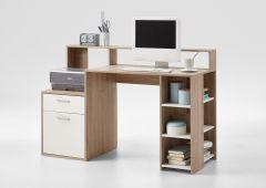 Bureau Elton 139cm - chêne/blanc
