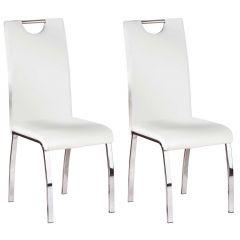Lot de 2 chaises salle à manger Texas - blanc