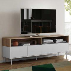 Meuble TV Horizon 180cm - chêne/blanc
