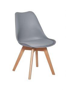 Lot de 4 chaises Malmo - gris