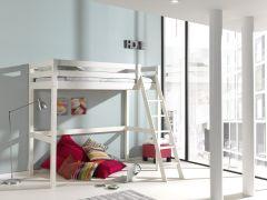 Lit mezzanine Claire 90x200 - blanc