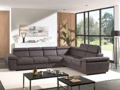 Canapé d'angle Carl - brun