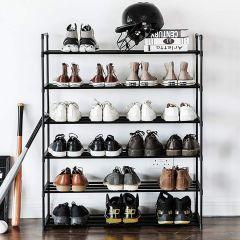 Etagère à chaussures Andreas 6 tablettes - noir