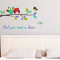 Stickers muraux Owl you need is love - Large