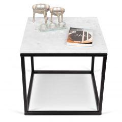 Table d'appoint Prairie - marbre blanc/acier