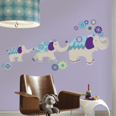 RoomMates stickers muraux - Waverly Éléphant (bleu/violet)