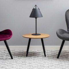 Table d'appoint Hixon Ø50 - frêne/noir