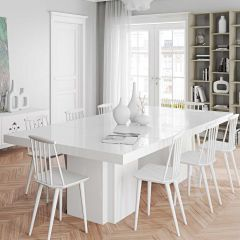 Table à manger Dusk 130x260 - blanc