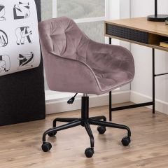 Chaise de bureau Bridget - vieux rose