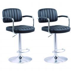 Jeu de 2 chaises de bar Easy - noir