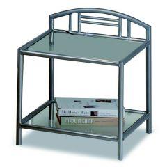 Table de chevet Forte métal - gris