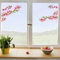 Sticker pour fenêtre Peach Branch