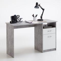 Bureau Jady - béton/blanc