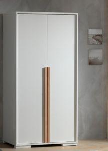 Armoire London 98cm avec 2 portes - blanc