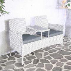 Chaise de jardin double Henderson - wicker