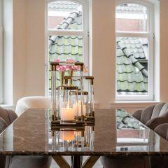 Table a manger Kondor 200x100cm - marbre/or