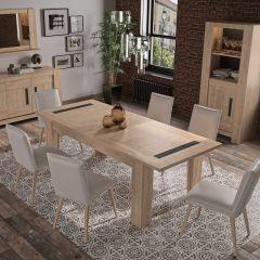 Table à manger extensible Bosy - chêne blond