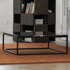 Table basse Prairie - marbre noir/acier